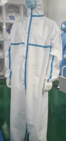 Protective Coverall Lamination fabric 48g/m2 PE coated PP EN14126, ISO 16604